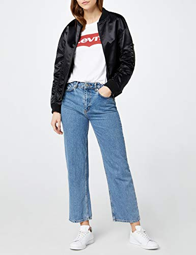 Levi's The Perfect Tee, Camiseta, Mujer, Blanco (Batwing White Graphic 53), 2XS