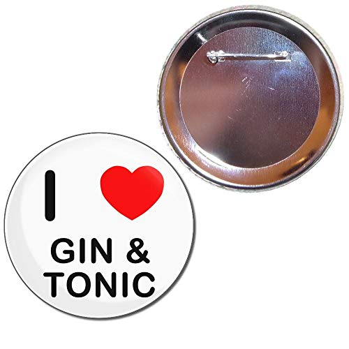 BadgeBeast.co.uk I Love Gin and Tonic - Insignia del botón de 77 mm